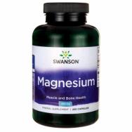 Swanson Magnesium (magnio oksidas) 200mg 250 kaps.