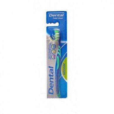 Total Clean dantų šepetukas medium, 1vnt
