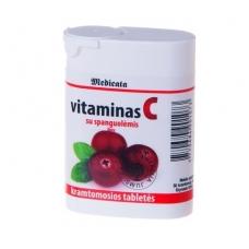 VITAMINAS C su spanguolėmis 50 kramtomų tablečių