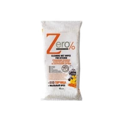 Zero drėgnos servetėlės virtuvės paviršiams